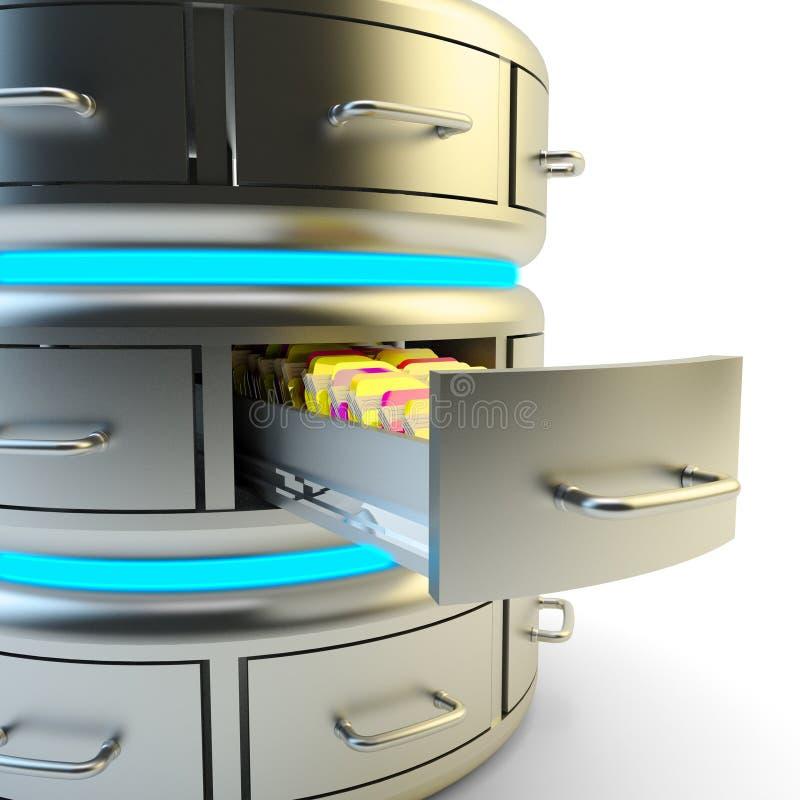Almacenamiento de datos remotos, servicio de la nube y concepto computacionales de la tecnología del servidor de red libre illustration