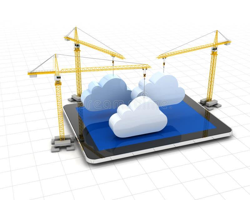 Almacenamiento de la nube de la creación stock de ilustración
