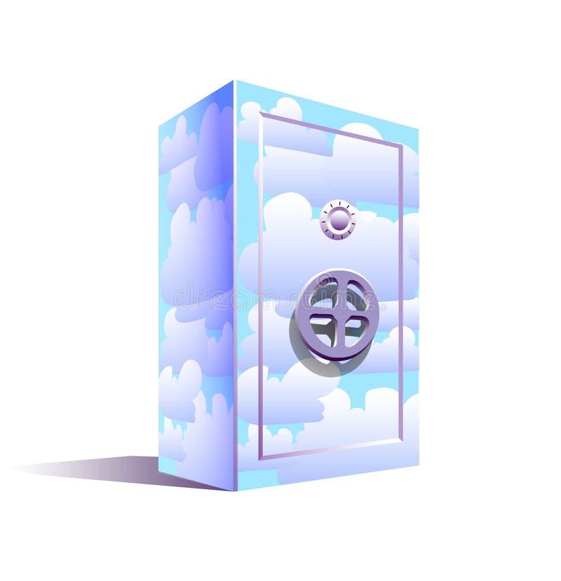 Almacenamiento de la nube - modelo del almacenamiento en línea ilustración del vector