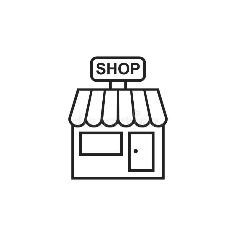 Almacene el icono del vector Ejemplo de la estructura de la tienda stock de ilustración