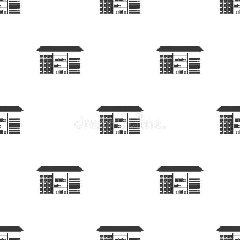 Almacene el icono en estilo negro aislado en el fondo blanco Ejemplo logístico del vector de la acción del modelo ilustración del vector