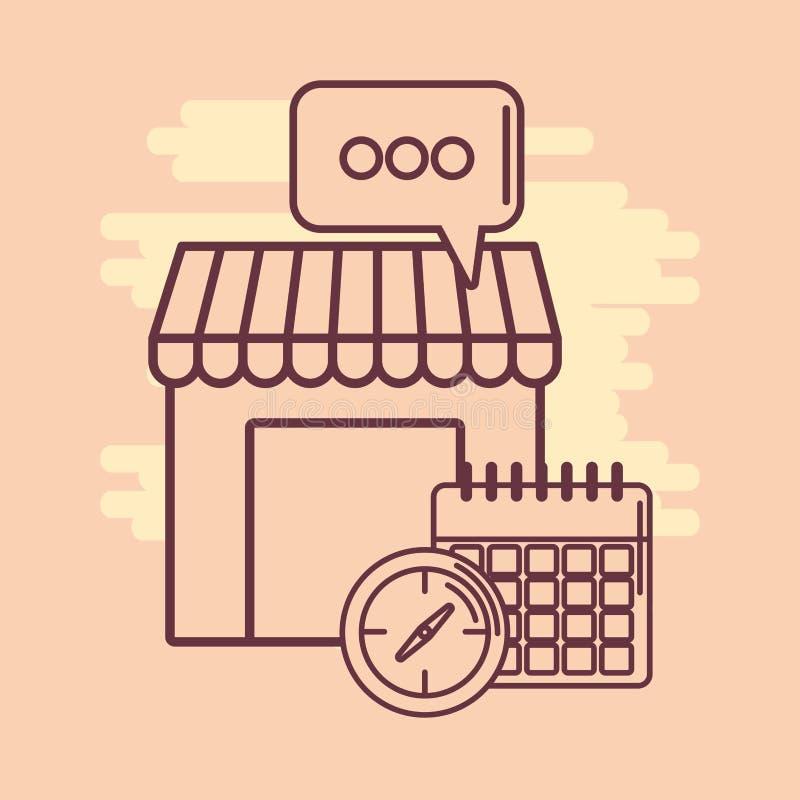 almacene la imagen del icono stock de ilustración