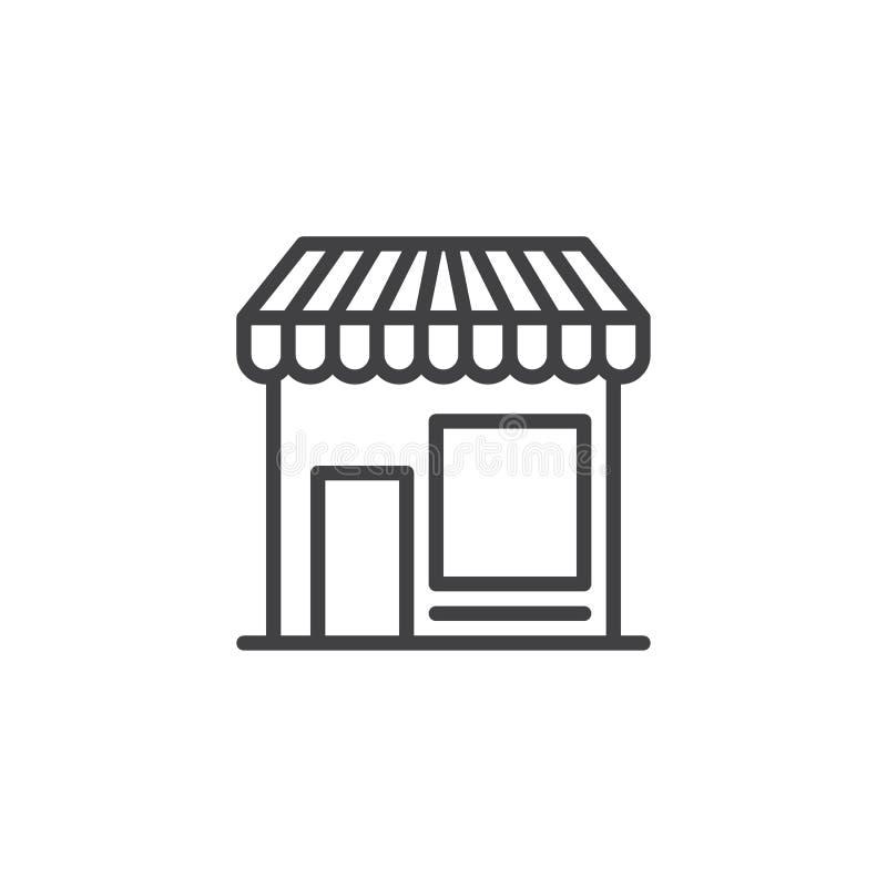 Almacene la línea icono stock de ilustración