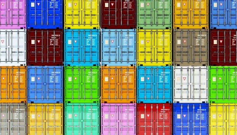 Almacene la logística, el transporte de la carga y el concepto de la industria del negocio del envío imagen de archivo libre de regalías