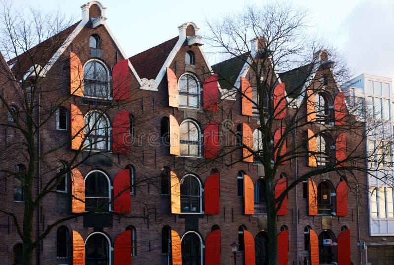 Almacenes aumentados Amsterdam imagen de archivo