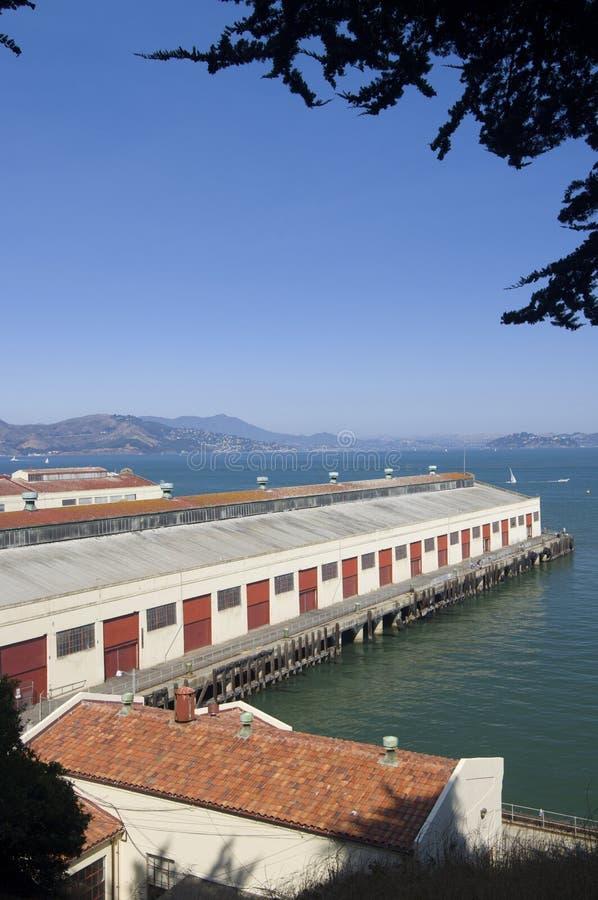 Almacenes portuarios imagen de archivo libre de regalías