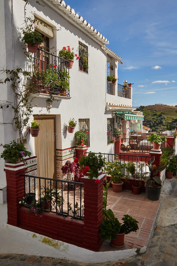 Almachar village in Malaga, Spain. Almachar is a town and municipality in the province of Málaga, part of the autonomous community of Andalusia in southern royalty free stock images