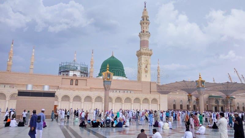 AlMasjid-e-Nabwi,沙特阿拉伯 库存照片