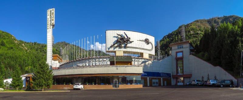 Almaty - Łyżwiarski lodowisko Medeo fotografia stock