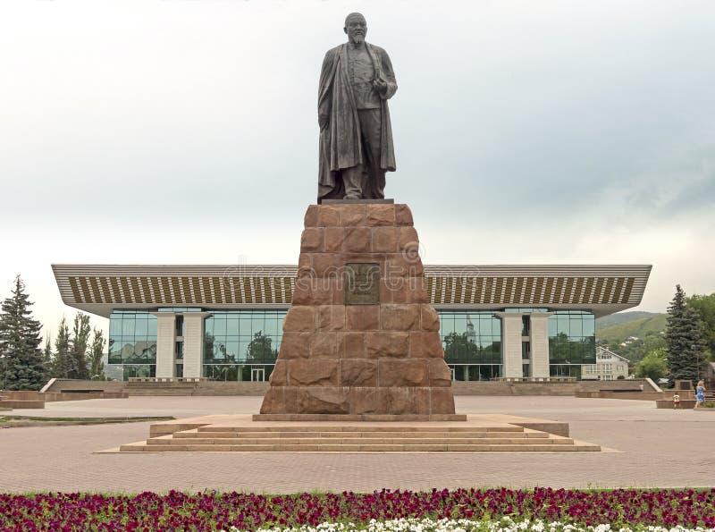 Almaty - Abay monument royaltyfri bild