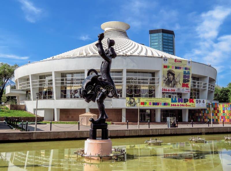 Almaty - Building of Circus stock image