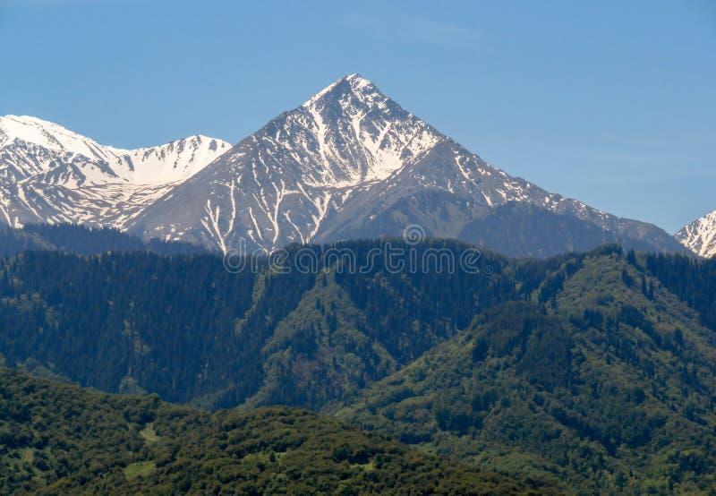 Almaty - Duży szczyt Almaty obrazy royalty free