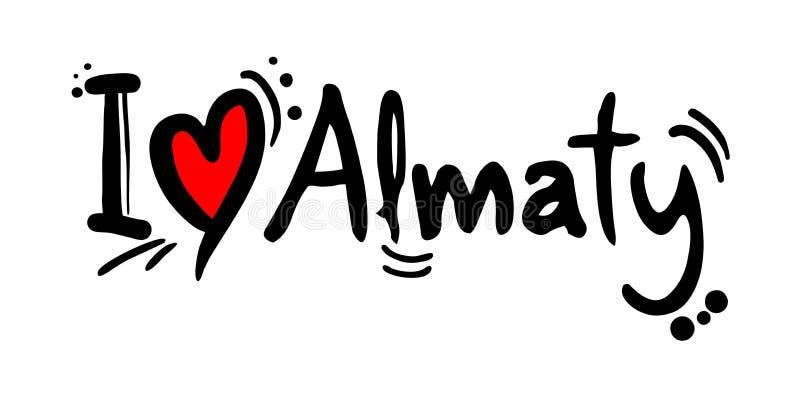 Almaty förälskelsemeddelande royaltyfri illustrationer