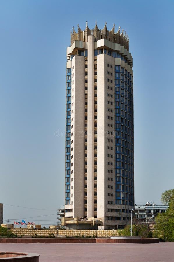 almaty hotell kazakhstan arkivbild
