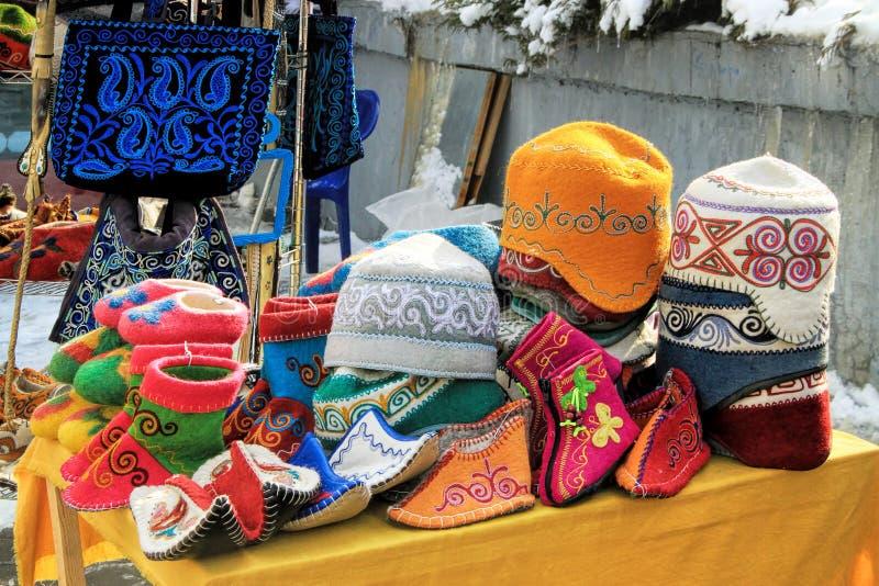Almaty, Kasachstan: traditionelle Andenken stockfoto