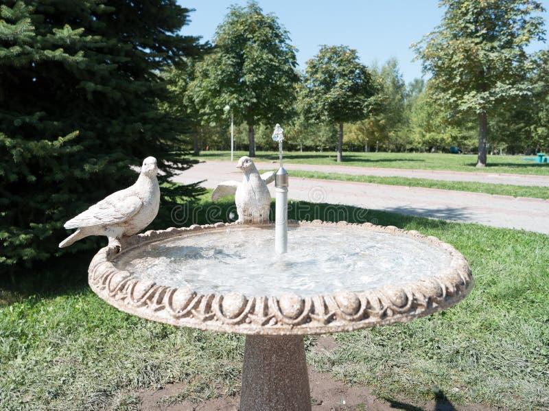 Almaty Kasakhstan - Augusti 28, 2016: Parkera av den första Presen arkivbild
