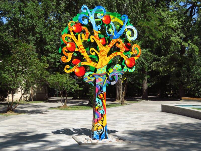 Almaty - Apple tree icon stock images