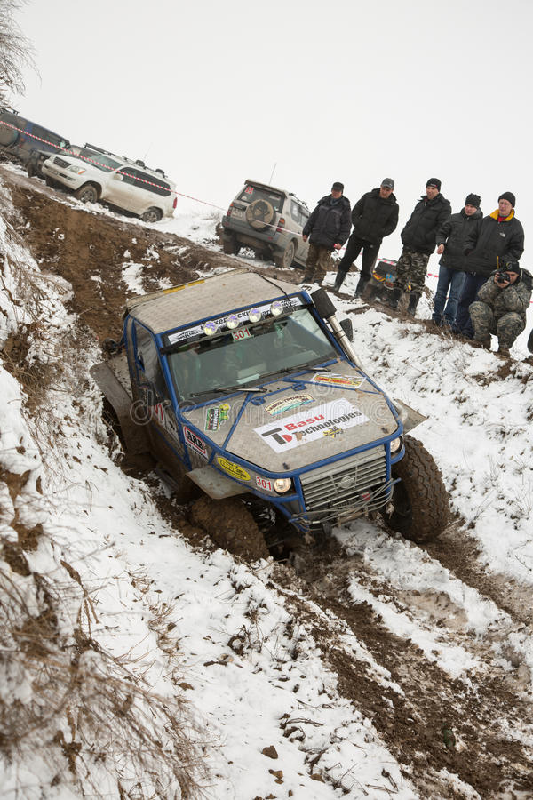 Download Almaty, Kazakhstan - February 21, 2013. Off-road Racing On Jeeps, Car Competition,  ATV. Traditional Race Editorial Photography - Image: 30498517