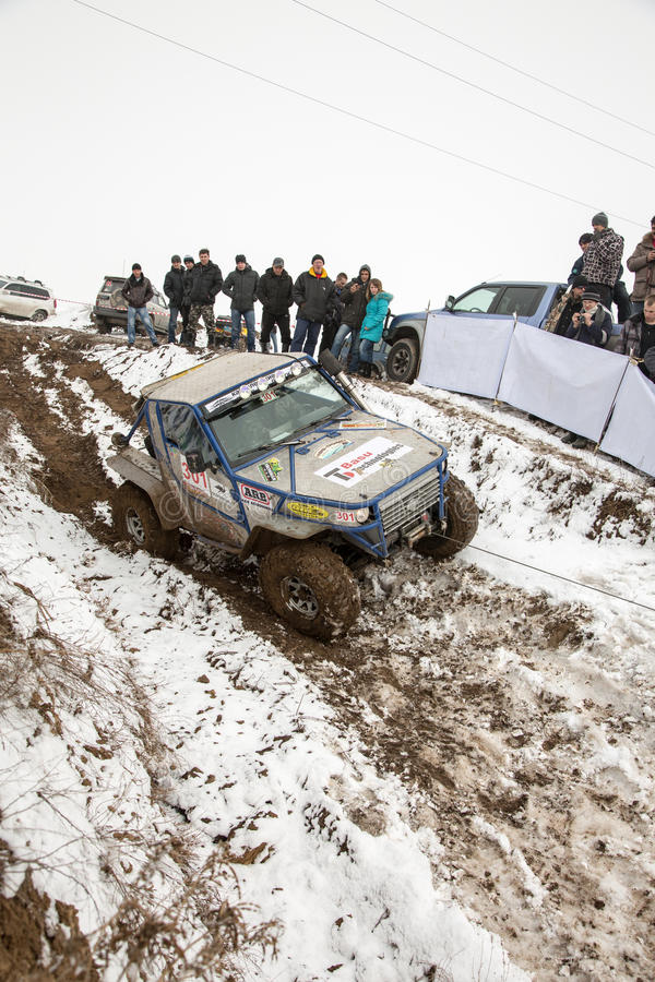 Download Almaty, Kazakhstan - February 21, 2013. Off-road Racing On Jeeps, Car Competition,  ATV. Traditional Race Editorial Image - Image: 30498525