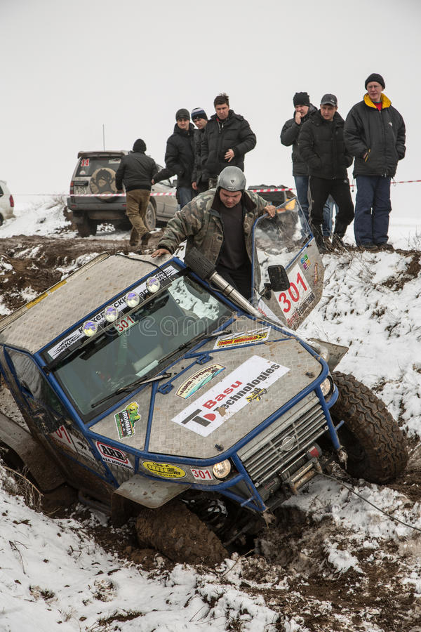 Download Almaty, Kazakhstan - February 21, 2013. Off-road Racing On Jeeps, Car Competition,  ATV. Traditional Race Editorial Photo - Image: 29723851