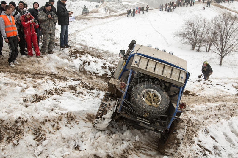 Download Almaty, Kazakhstan - February 21, 2013. Off-road Racing On Jeeps, Car Competition,  ATV. Traditional Race Editorial Image - Image: 29723860