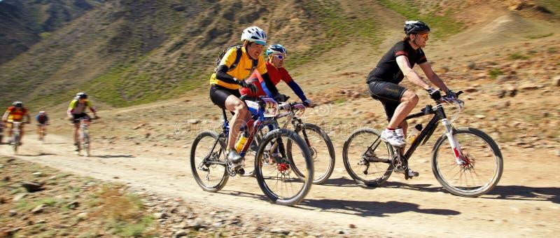 Concurrence d'aventure de vélo de Mauntain photographie stock