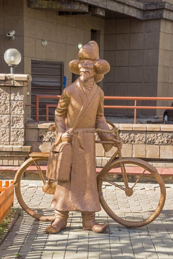 Almaty - la sculpture le facteur photographie stock libre de droits
