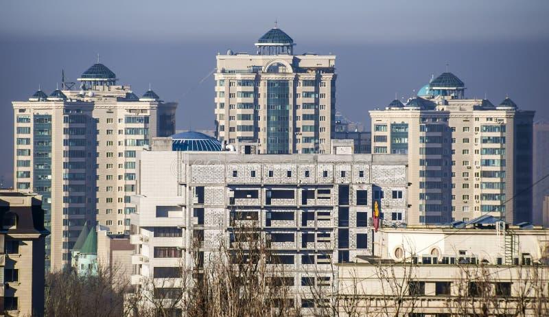 Almaty - modern arkitektur royaltyfri bild