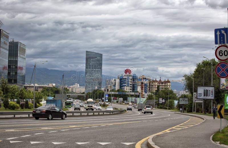 Almaty stad arkivbild