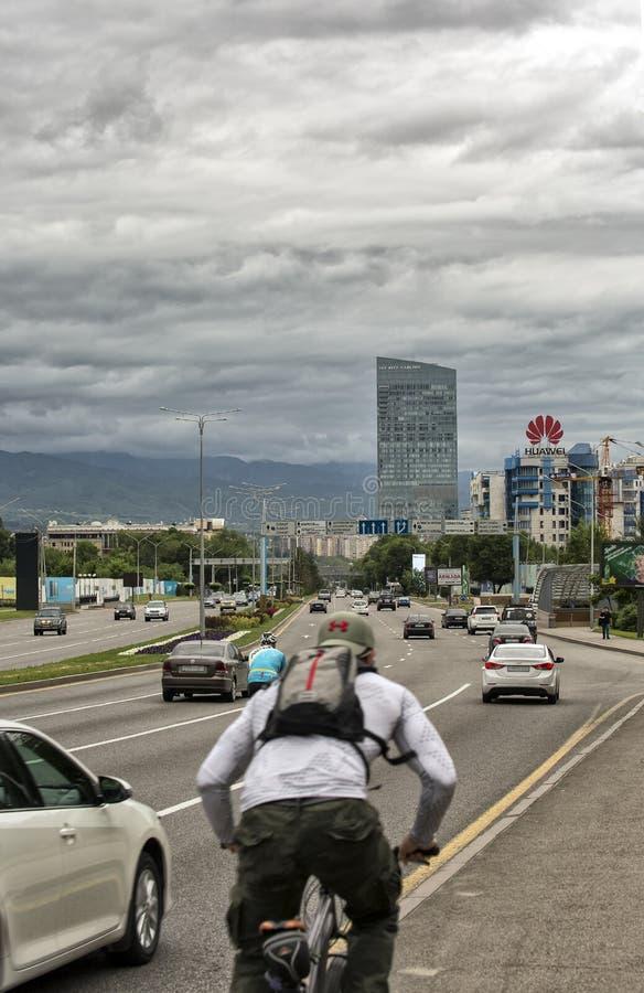Almaty stad royaltyfria bilder