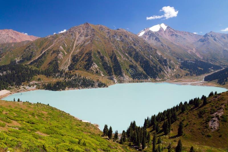 almaty stor lake royaltyfria foton