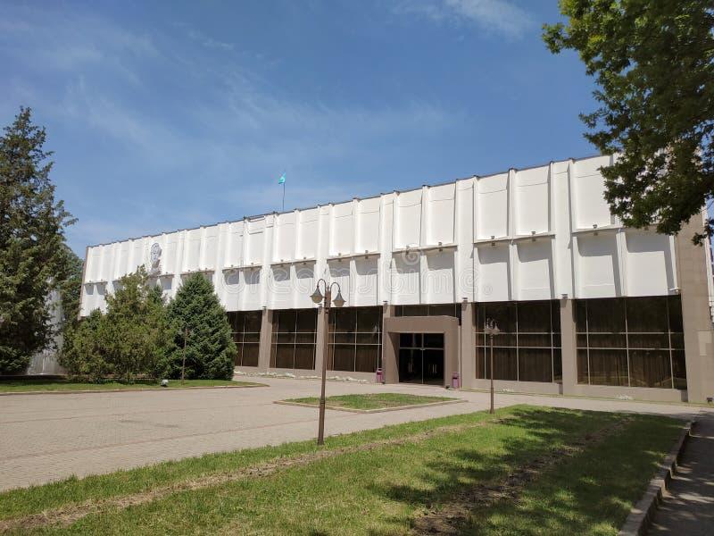 Almaty - teatro ruso académico del drama del estado imagenes de archivo