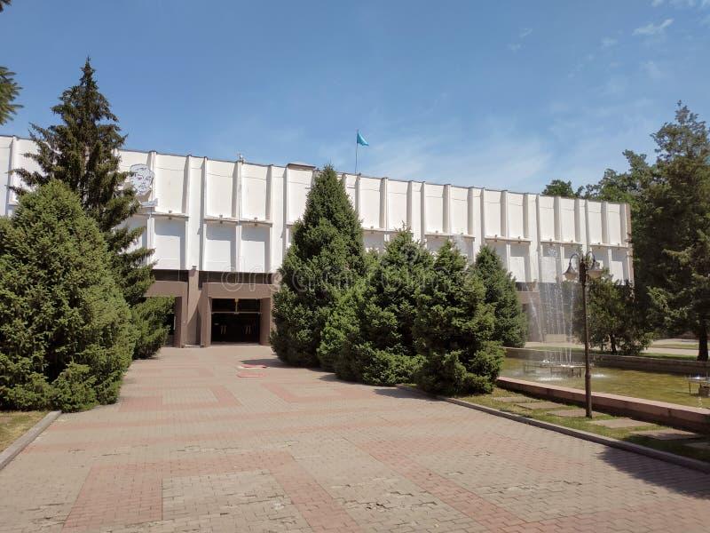 Almaty - teatro ruso académico del drama del estado fotos de archivo libres de regalías