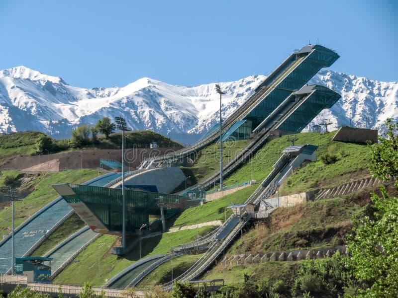 Almaty - trampolina kompleks Sunkar fotografia royalty free