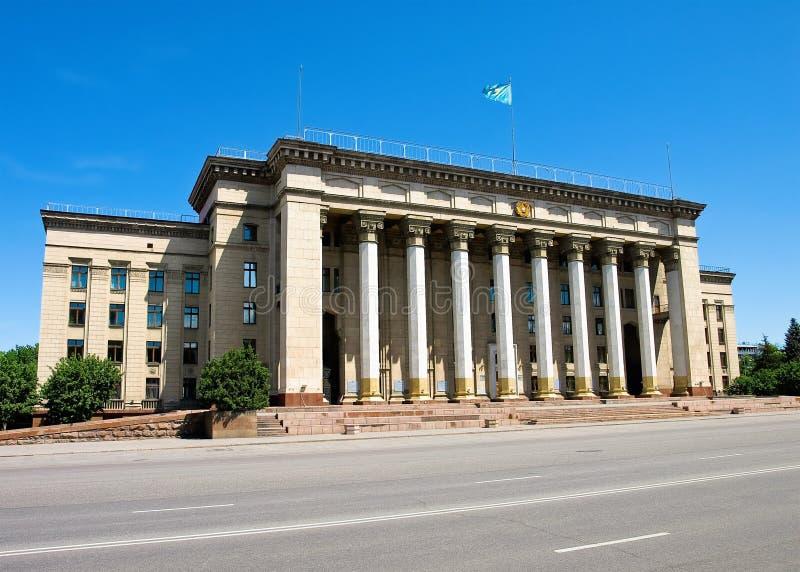 Almaty - vieille Chambre de gouvernement photos stock
