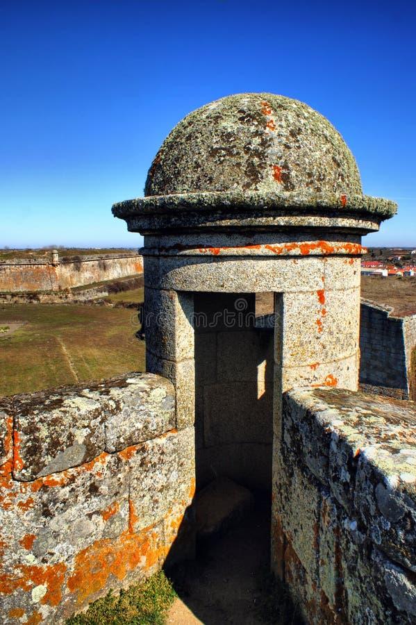Almeida historisk by och stärkte väggar royaltyfri foto