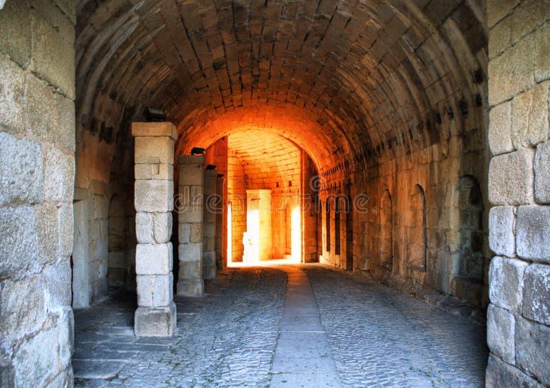 Almeida historisk by stärkte väggar royaltyfri bild
