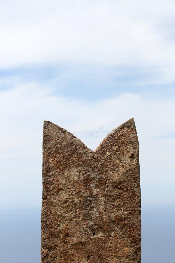 Almenaje de una torre medieval imagen de archivo libre de regalías