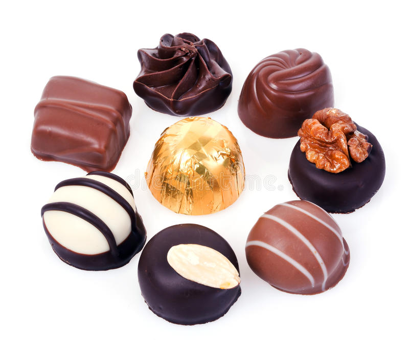 Almendras garapiñadas del chocolate fotos de archivo libres de regalías