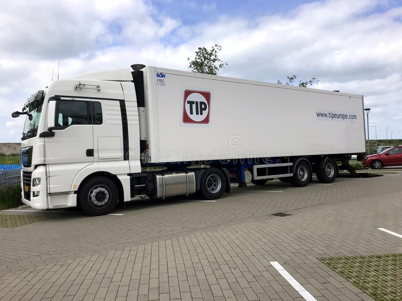 Tip transport truck. royalty free stock images