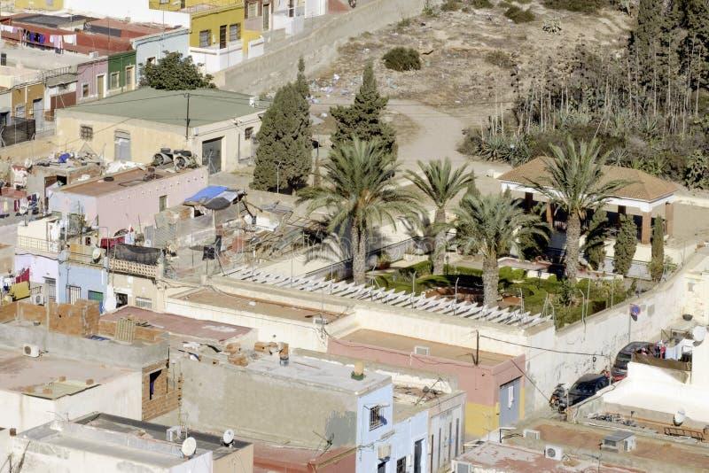 Almeria, Andalusien, Spanien, Europa, Ansicht des Bezirkes Chanca stockfotografie