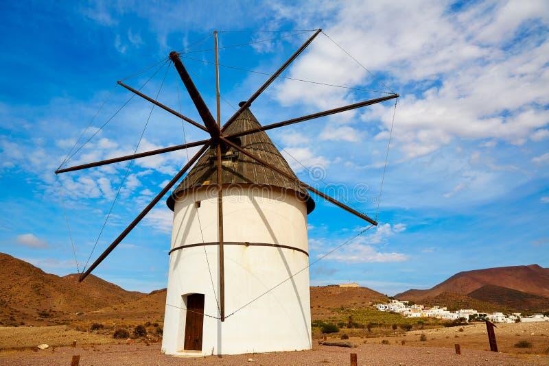 Almeria Molino Pozo de los Frailes windmill Spain. Almeria Molino Pozo de los Frailes windmill traditional in Spain stock photography