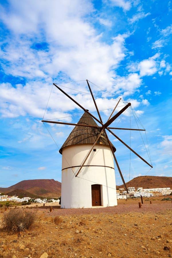 Almeria Molino Pozo de los Frailes windmill Spain. Almeria Molino Pozo de los Frailes windmill traditional in Spain stock image