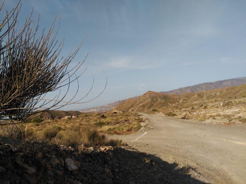 Almeria pustynia zdjęcia stock