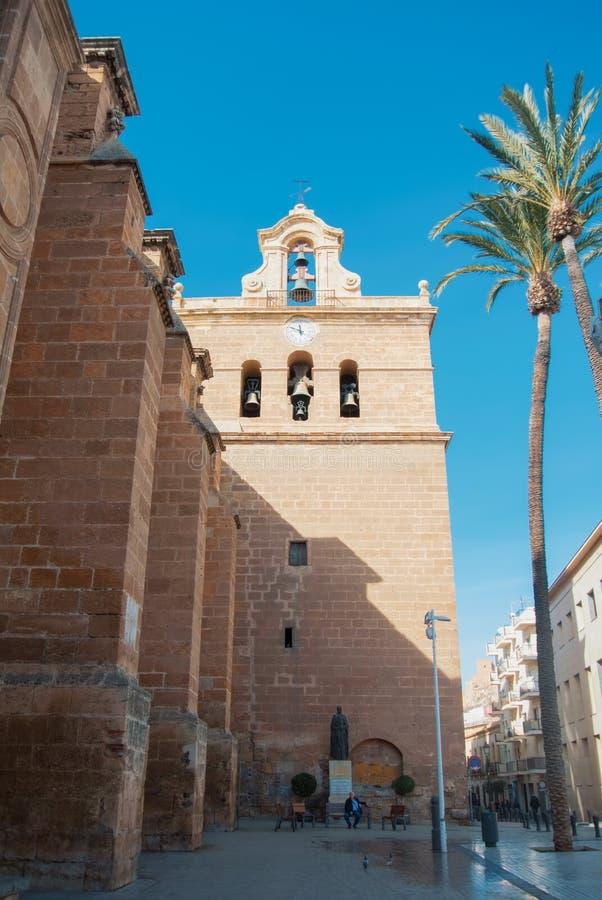 ALMERIA, SPAIN - FEBRUARY 11, 2016: Cathedral of Almeria Cathed stock photo
