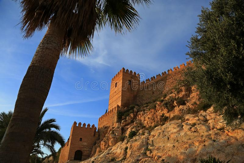 almeria spanien Alcazaba lizenzfreie stockbilder