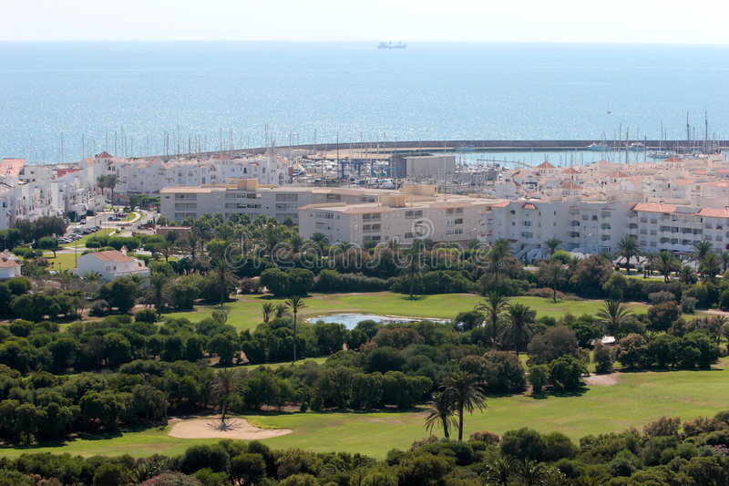 Download Almerimar Golf Course And Port In Spain Stock Photo - Image: 1087752