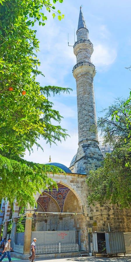 Download Alminar Alto De La Mezquita De Muratpasa En Antalya Imagen de archivo editorial - Imagen de riviera, cityscape: 100530634