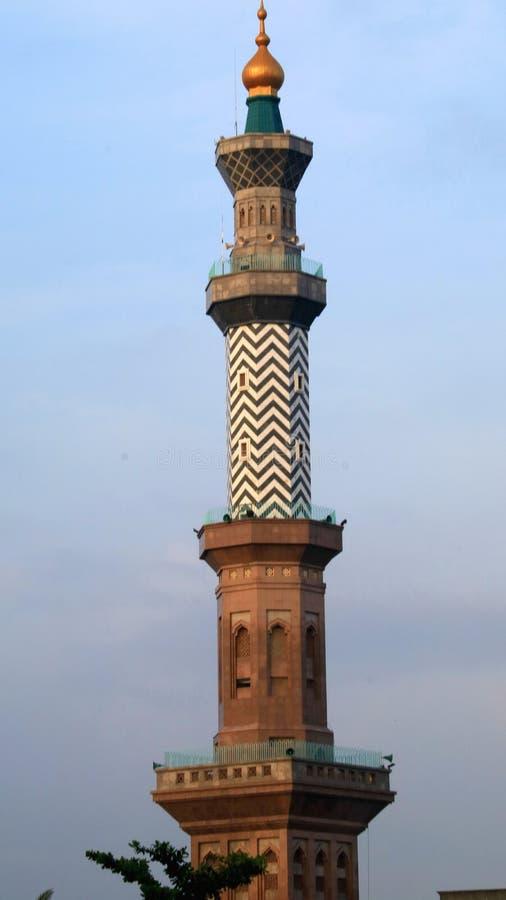 Alminar de la gran mezquita de Cirebon imagen de archivo libre de regalías