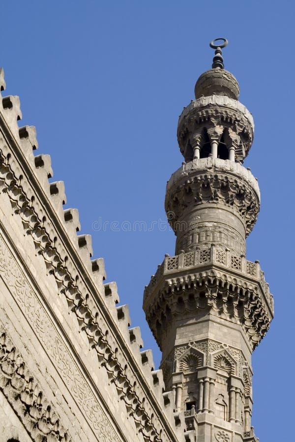 Alminar de la mezquita - configuración islámica fotografía de archivo